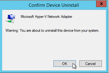 Remove Hyper-V Adapter 2