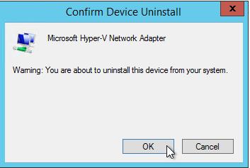 Remove Hyper-V Adapter 2