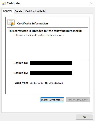 Freshly Minted Certificate