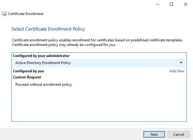 Certificate Enroll