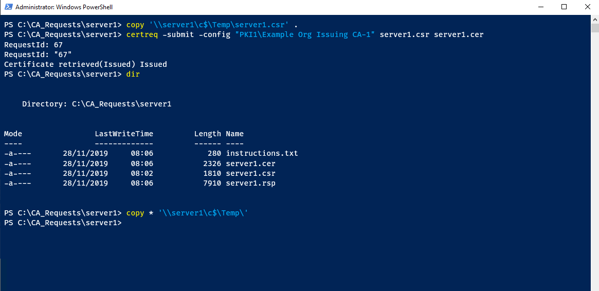 Copy files in PowerShell