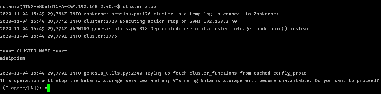 Cluster Stopping