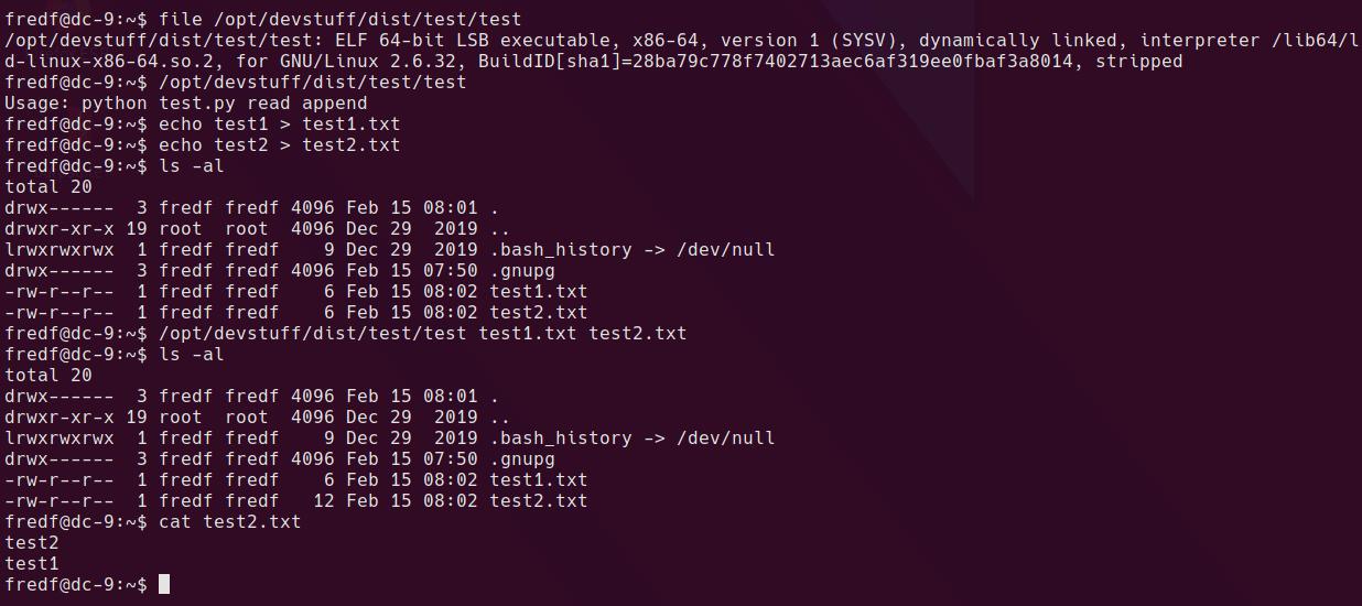 sudo binary tests