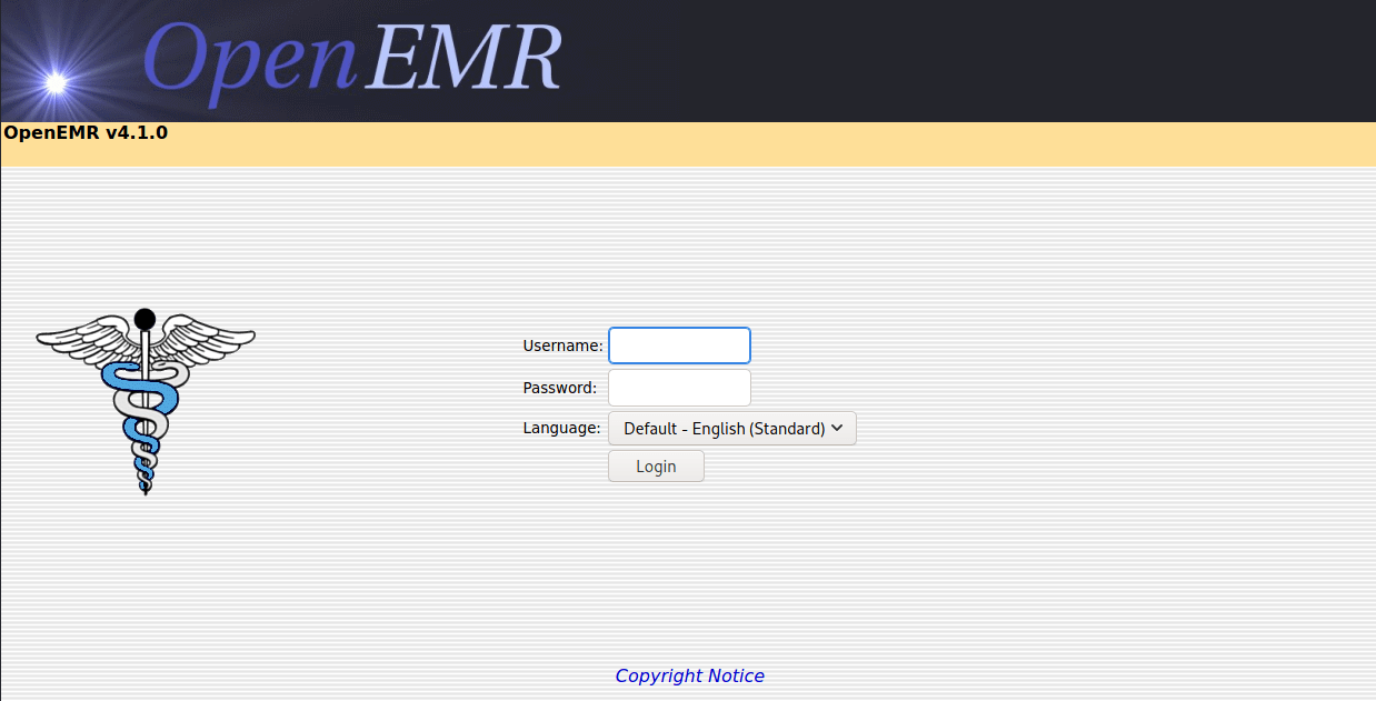 openemr home page