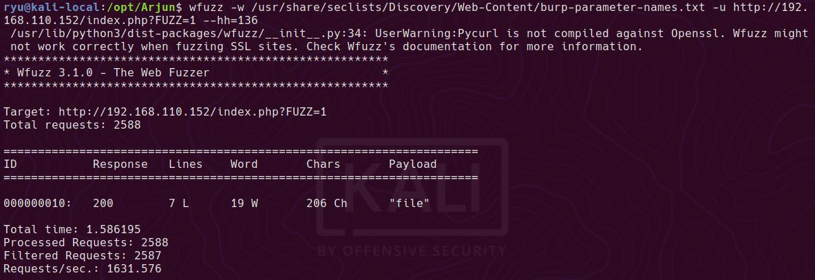 wfuzz file parameter