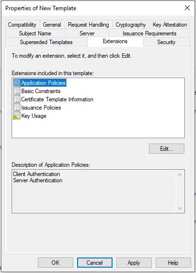 Extensions Tab